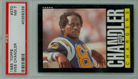 1985 Topps Football 370 Wes Chandler San Diego Chargers PSA 7 Near Mint