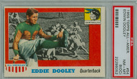 1955 Topps AA Football 54 Eddie Dooley Single Print  Dartmouth PSA 8 OC
