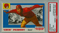1955 Topps AA Football 72 Chub Peabody Harvard Crimson PSA 8 OC
