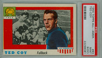 1955 Topps AA Football 83 Ted Coy Yale Bulldogs PSA 9 OC