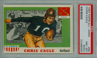 1955 Topps AA Football 95 Chris Cagle Single Print Army Black Knights PSA 8 OC