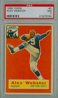 1956 Topps Football 5 Alex Webster ROOKIE New York Giants PSA 7 Near Mint