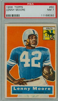1956 Topps Football 60 Lenny Moore ROOKIE Baltimore Colts PSA 7 Near Mint