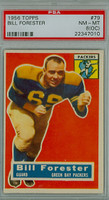 1956 Topps Football 79 Bill Forester ROOKIE Green Bay Packers PSA 8 OC