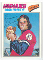 1977 Topps Baseball 525 Dennis Eckersley Cleveland Indians Near-Mint