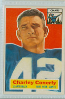 1956 Topps Football 77 Charley Conerly New York Giants Excellent to Mint