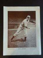 Baseball Magazine Player Posters 1945 Steve Gromek Cleveland Indians Very Good