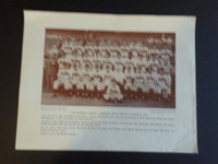 Baseball Magazine Player Posters 1948 Cleveland Indians Team Very Good