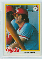 1978 Topps Baseball 20 Pete Rose Cincinnati Reds Near-Mint Plus
