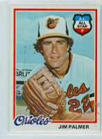 1978 Topps Baseball 160 Jim Palmer Baltimore Orioles Near-Mint to Mint