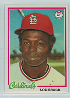 1978 Topps Baseball 170 Lou Brock St. Louis Cardinals Near-Mint to Mint