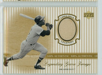 2000 Upper Deck Legendary Jerseys Insert 1:48 Hank Aaron Atlanta Braves Near-Mint to Mint