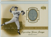 2000 Upper Deck Legendary Jerseys Insert 1:48 Maury Wills Los Angeles Dodgers Near-Mint to Mint