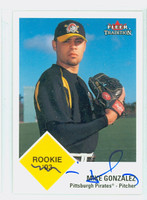 Mike Gonzalez AUTOGRAPH 2003 Fleer Tradition 1963 Fleer Design Pirates 