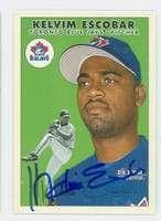 Kelvim Escobar AUTOGRAPH 2000 Fleer Tradition Blue Jays 
