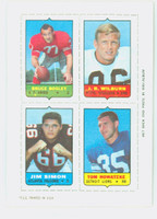 1969 Topps Football 4-1s Bosley|Wilburn|Nowatzke|Simon Very Good to Excellent