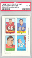 1969 Topps Football 4-1s Buoniconti|Saimes.MacKinnon|Duranko PSA 7 Near Mint [08219659]