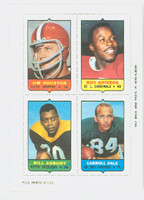 1969 Topps Football 4-1s Houston|Shivers|Dale|Asbury Near-Mint