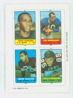 1969 Topps Football 4-1s Howard|Morrison|Martin|Davis Excellent to Mint
