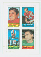 1969 Topps Football 4-1s Mirich|Graham|Turner|Stofa Excellent