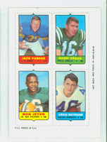 1969 Topps Football 4-1s Pardee|Snead|Bayham|Jeter Excellent to Mint