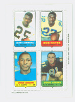 1969 Topps Football 4-1s Simmons|Hayes|Atkins|Lockhart Excellent to Mint