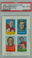 1969 Topps Football 4-1s Wilson|Bramlett|Beathard|Little PSA 8 Near Mint to Mint [40229148]