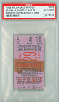 1956 Milwaukee Braves Ticket Stub vs Pittsburgh Pirates Eddie Mathews Career HR #186 Lew Burdette Career Win #66  - August 29, 1956 [F-G]