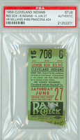 1959 Cleveland Indians Ticket Stub vs Boston Red Sox Ted Williams Career HR #486 - June 27, 1959 [F-P]
