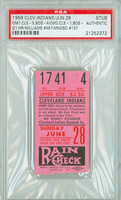 1959 Cleveland Indians Ticket Stub vs Boston Red Sox Ted Williams Career HR #487 Minnie Minoso Career HR #137  - June 28, 1959 [VG-EX]
