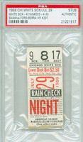 1959 Chicago White Sox Ticket Stub vs NY Yankees Yogi Berra Career HR #297 - July 29, 1959 [VG]