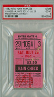 1962 New York Yankees Ticket Stub vs Chicago White Sox Mickey Mantle Career HR #395 - July 28, 1962