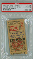 1963 New York Yankees Ticket Stub vs Chicago White Sox Whitey Ford Career Win #193 - August 24, 1963