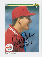 Pat Combs AUTOGRAPH 1990 Upper Deck Phillies 