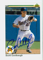 Scott Coolbaugh AUTOGRAPH 1990 Upper Deck Rangers 