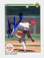 Ken Howell AUTOGRAPH 1990 Upper Deck Phillies 