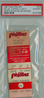1981 Philadelphia Phillies Ticket Stub vs Houston Astros Steve Carlton Win #258 Garry Maddox HR #94  - June 10 1981