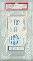 1981 Los Angeles Dodgers Ticket Stub vs Chicago Cubs Lee Smith Career Save #1 - August 29, 1981 [EX]