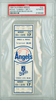 1984 California Angels Full Ticket vs Kansas City Royals Reggie Jackson Career HR #500 Bud Black Career Win #30  - September 17, 1984 [NMT]