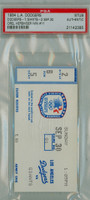 1984 Los Angeles Dodgers Ticket Stub vs San Francisco Giants Orel Hershiser Win #11 - September 30 1984