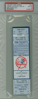 1996 New York Yankees Full Ticket vs Oakland Athletics Derek Jeter Career Hit #50 - May 23, 1996