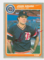 Johnny Grubb AUTOGRAPH 1985 Fleer Tigers 