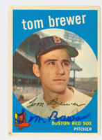 Tom Brewer AUTOGRAPH 1959 Topps #55 Red Sox CARD IS VG