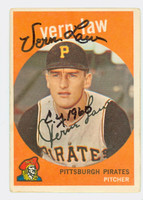 Vern Law AUTOGRAPH 1959 Topps #12 Pirates LT CREASE; CARD IS G/VG
