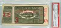 1939 World Series Yankees at Reds - Game 3 Ticket Stub HR Joe DiMaggio, Bill Dickey [VG]