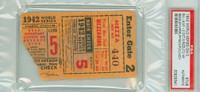 1942 World Series Cardinals at Yankees - Game 5 Ticket Stub HR Phil Rizzuto Red Ruffing vs Johnny Beazley [G-VG]