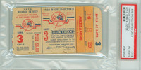1950 World Series Phillies at Yankees - Game 3 Ticket Stub NY 3-2 Ferrick vs Meyer [F-G]