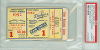 1952 World Series Yankees at Dodgers - Game 1 Ticket Stub BRK 4-2 HR Jackie Robinson, Duke Snider WP Joe Black [VG/EX] [Y52_SERIES521S_pa_1]