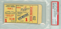 1952 World Series Yankees at Dodgers - Game 1 Ticket Stub BRK 4-2 HR Jackie Robinson, Duke Snider WP Joe Black [VG] [Y52_SERIES521S_pa_sr]