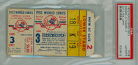 1952 World Series Dodgers at Yankees - Game 3 Ticket Stub BRK 5-3 HR Yogi Berra, Johnny Mize WP Preacher Roe [Fair-Good] [Y52_SERIES523S_pa_19]